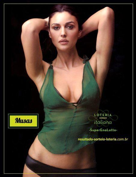 Loteria Italiana SuperEnaLotto - Monica Bellucci - Musas