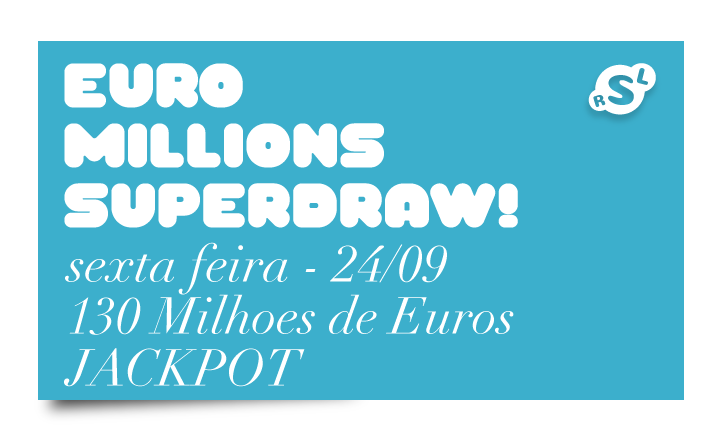 Sextou! Euromillions Superdraw nesta sexta 1