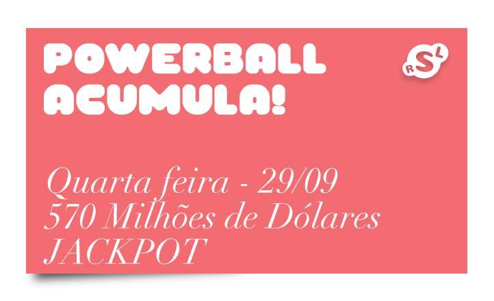 Acumulou! Powerball oferece maior Jackpot 1