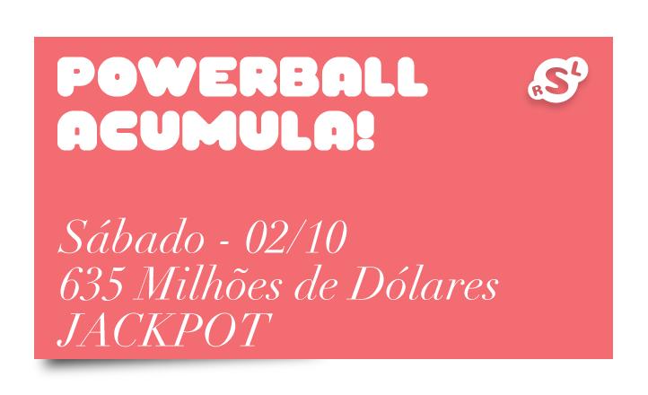 PowerBall acumula novamente: US$ 635 Milhões de Dólares neste sábado 1
